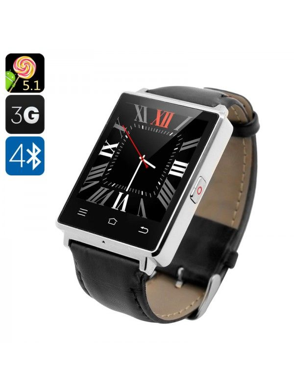 NO.1 D6 3G SMART WATCH PHONE (SILVER)