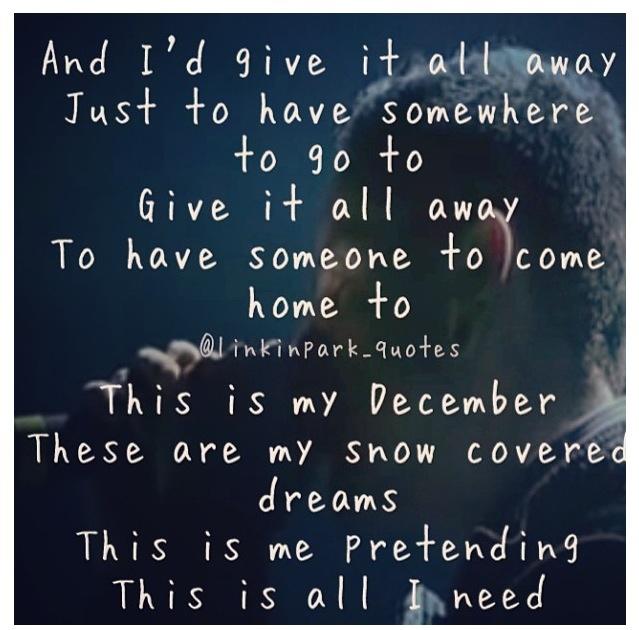 One of my favorite songs- My December ❄ ❤ Linkin Park