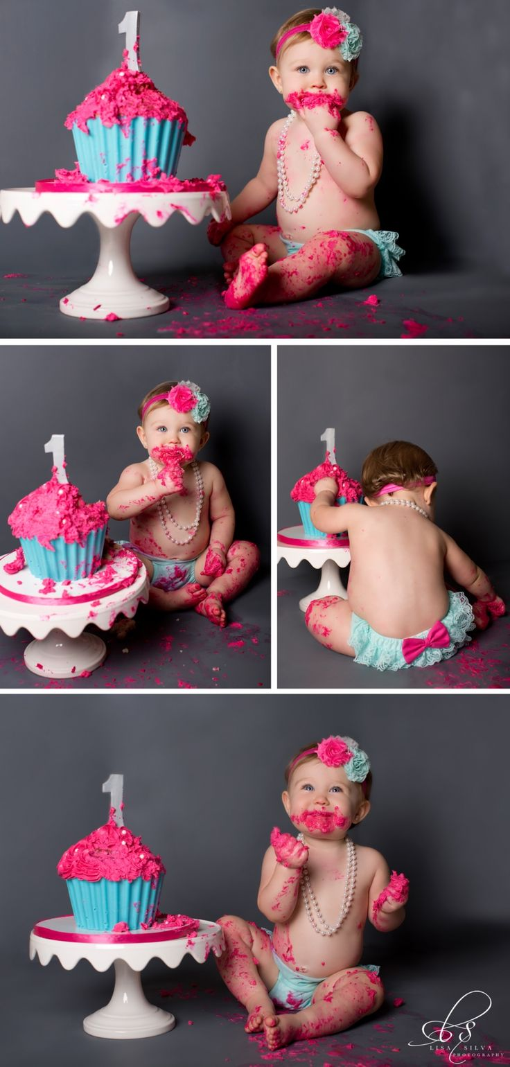 1 year old birthday shoots // Pretty Perfect Living First Birthday Shoot- Baby Girl- 1 Year Old- Cake Smash www.LisaSilvaPhoto.com
