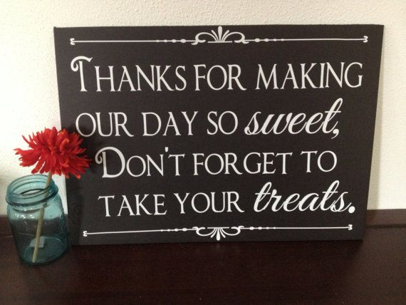 Candy Buffet Sign by IDoSignDesigns on Etsy, $25.00