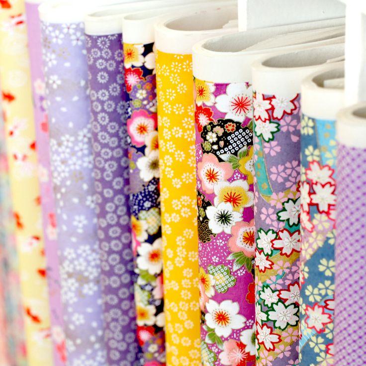 Papiers Japonais fleuris chez Adeline Klam