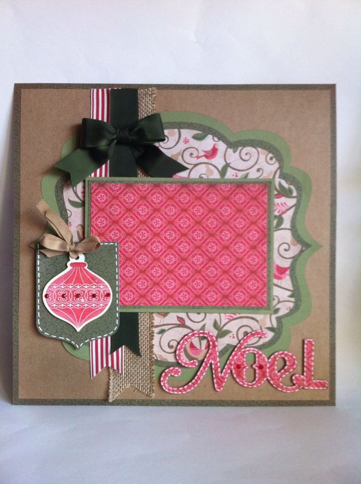 Noel layout made using the Artiste cartridge and October stamp of the month by Melanie at Everyday Cricut
