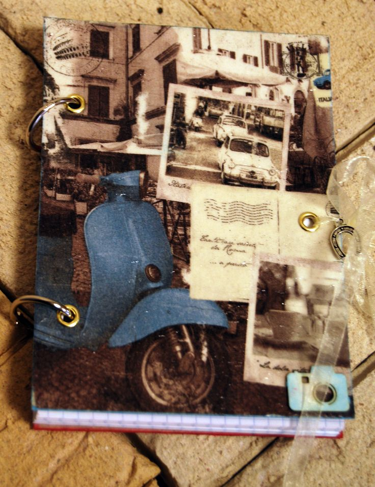 Notes with elements of decoupage