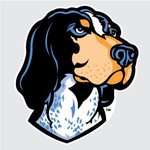 "Tennessee Volunteers Mascot Dog | Tennessee Volunteers Smokey Mascot 4"" Vinyl Decal Car Truck Window ..."