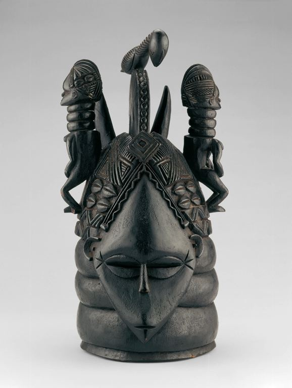Sherbro or Mende  Sierra Leone        Mask for Sande Society (Ndoli Jowei), Early/mid-20th century (before 1940)              Wood