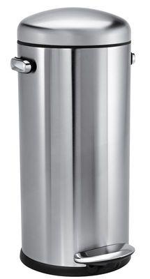Poubelle à pédale Retro / 30 L Acier brossé - Simple Human 140€