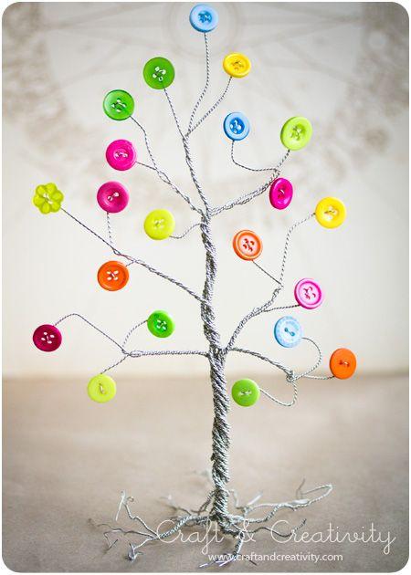 Button tree - by Craft & Creativity