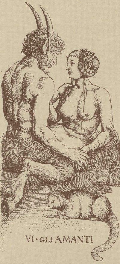 """templeofapelles: """" Albrecht Durer Tarot card VI. The Lovers """""""