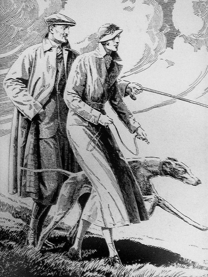 Burberry trench coat ad (circa 1950)