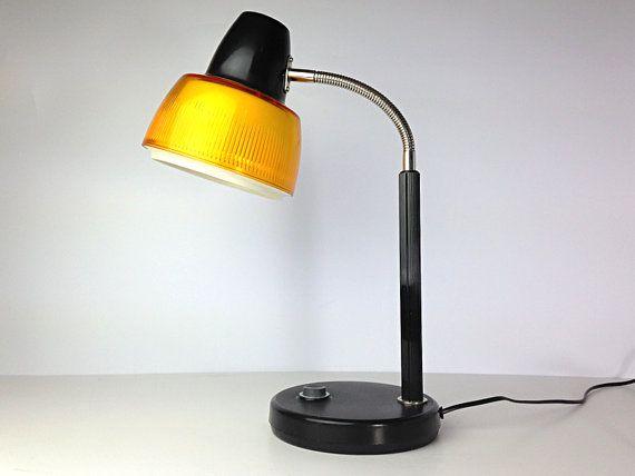 Vintage Gooseneck Desk Lamp Metal L Shaped Desk