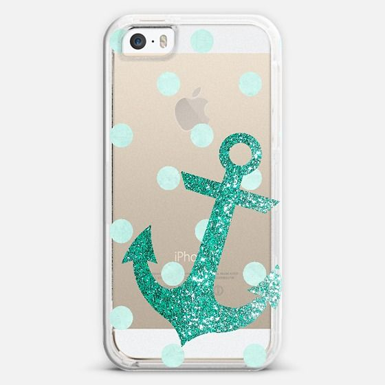 Glitter Anchor with dots in Mint iPhone 5s case by Nika Martinez | Casetify