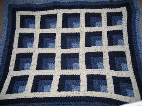 1000 images about crochet mitered log cabin on pinterest for Log cabin blanket