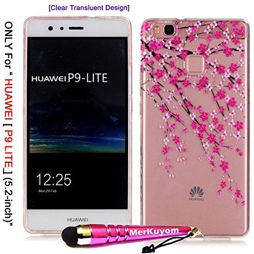 ONLY For [HUAWEI P9 Lite], MerKuyom-[Clear Transparent Case] HUAWEI P9 Lite Clear Case, [Flexible Gel] Soft TPU Case Skin Cover For HUAWEI P9 Lite / HUAWEI P9Lite, + Stylus (Pink Tree Flowers), http://www.amazon.com/dp/B01GGIHXHW/ref=cm_sw_r_pi_awdm_x_gBLfybWDA8WB9