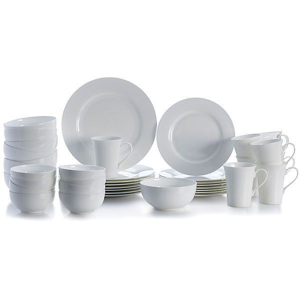40pc delray dinnerware set place settings 199 liked on polyvore featuring - White Dinnerware Sets