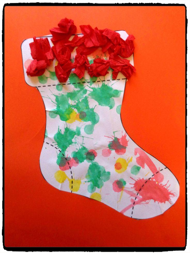 chaussettes de noel, bricolage enfant