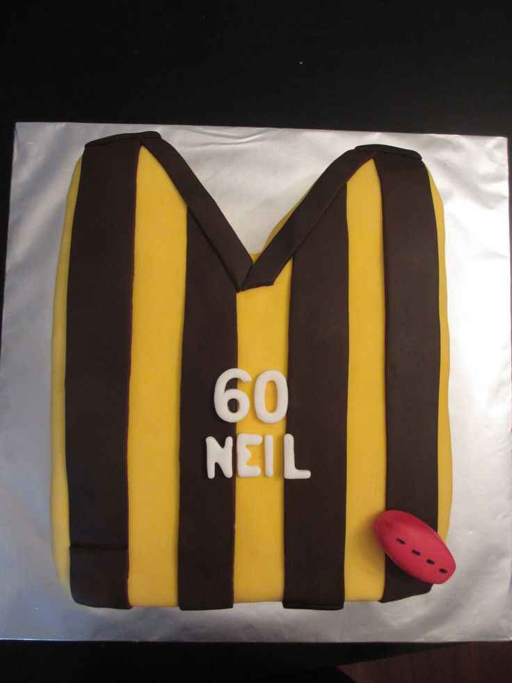 Hawks jumper birthday cake