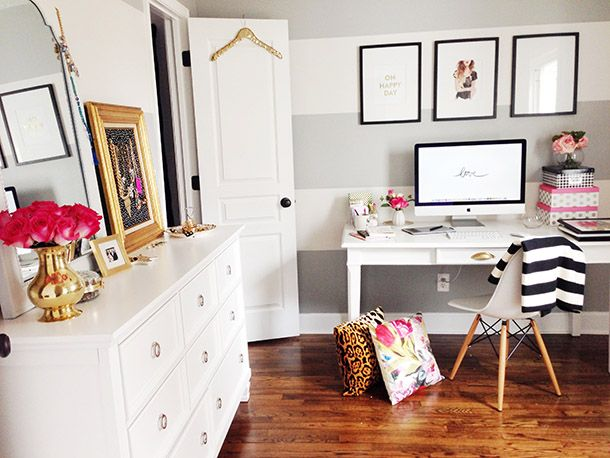 Ashley Ella Design: The Nest // Adding Storage to the Office