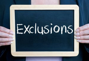 Exclusions are placed upon Critical Illness Insurance primarily when there is a significant medical history of the applicant, or the applicants family.