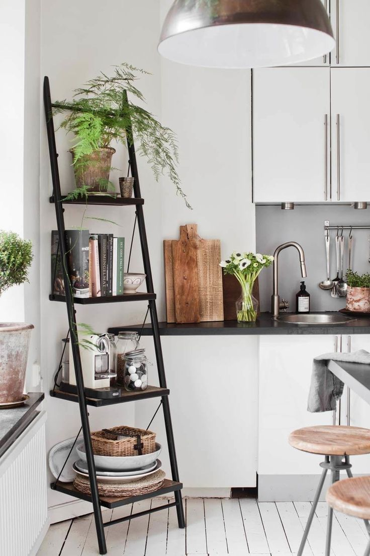 Decorating Black Holes: The 7 Most Easily Forgotten Spots. Ladder ShelvesA  LadderFloating ShelvesBookshelvesHome Decor KitchenSmall Apartment ...