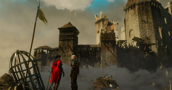 Geralt and Syanna defeat the Cloud Giant and head for their escape.