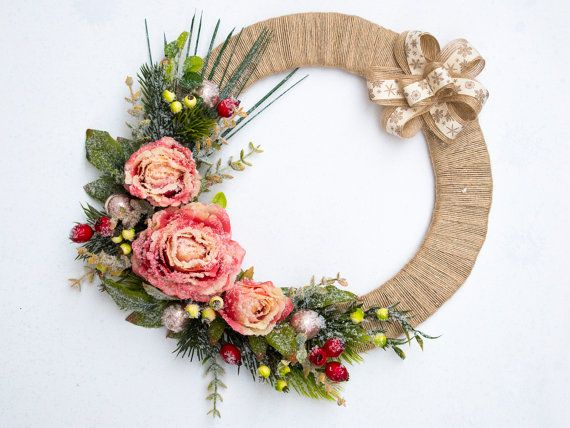 Christmas wreath, Holiday Wreath, Front Door Wreath, Outdoor Wreath, Decor