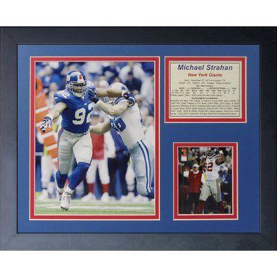 Legends Never Die Michael Strahan Framed Memorabilia