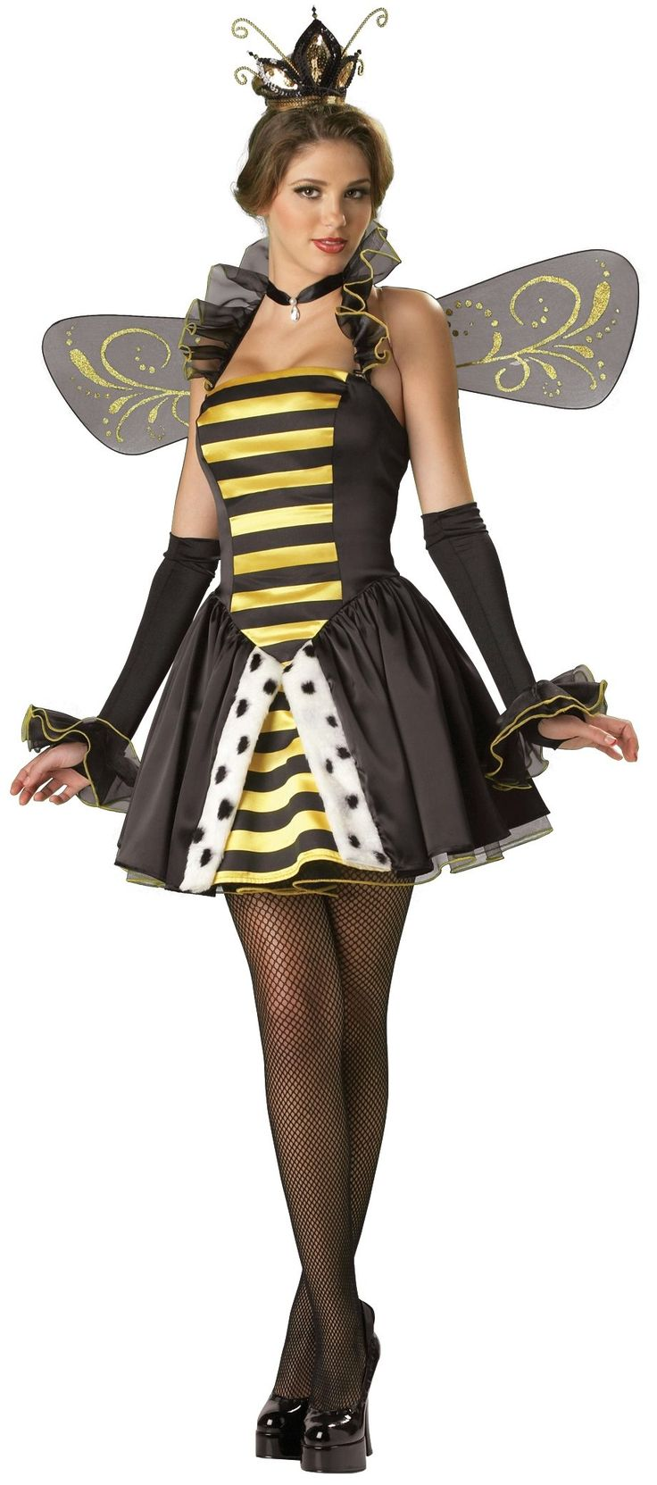 Queen Miss-Bee-Have Adult Bumble Bee Costume - Mr. Costumes