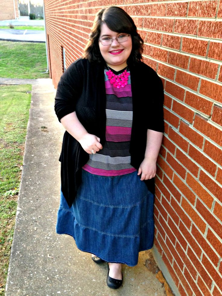 Unique Geek: Plus Size OOTD: Pink Stripes #plussizefashion #plussizeootd #plussize #plussizeoutfit: