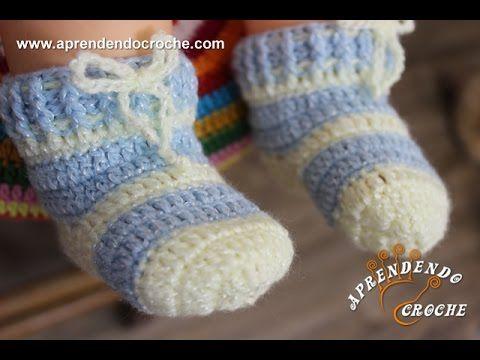 Meia Bebê Crochê Soneca - Aprendendo Crochê