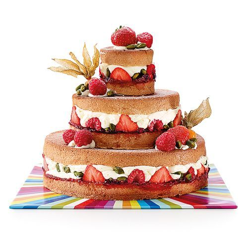 Naked 3 Tier Cake