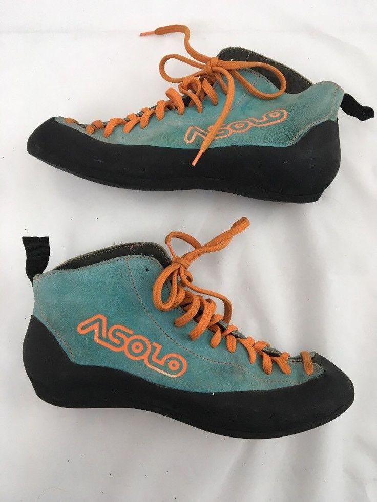 vintage ASOLO Eldorado rock sport climbing shoes boots size 6.5 ITALY MADE #Asolo