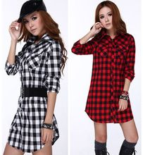 Office Ladies Plaid Shirt Temperament Plus Size Women Blouse Spring Autumn Cotton 100% Long Shirts High Quality Z03  From plonlineventures.com At Your Aliexpress link