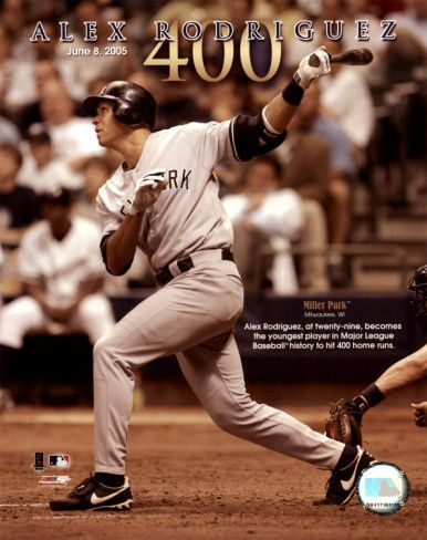 June 8, 2005 - Alex Rodriguez became the youngest player to reach 400 career home runs