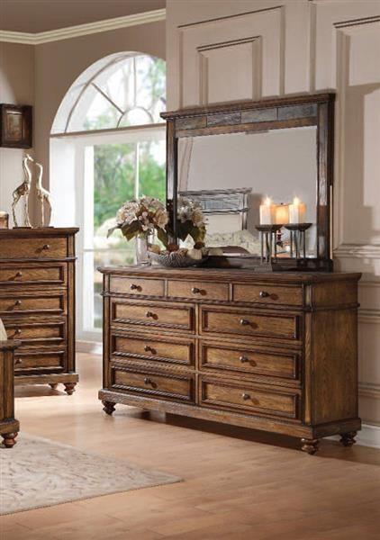 Acme Furniture   Arielle Dresser With Mirror Set In Oak
