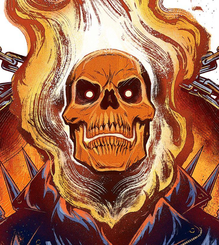 "herochan: ""Ghost Rider Art by Eugene Smith || Tumblr """