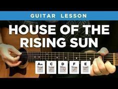 House of the Rising Sun - The Animals - Beginner Easy Song Guitar Lesson Acoustic (BS-610) - YouTube #easyguitarsongs #guitarlessonssongs