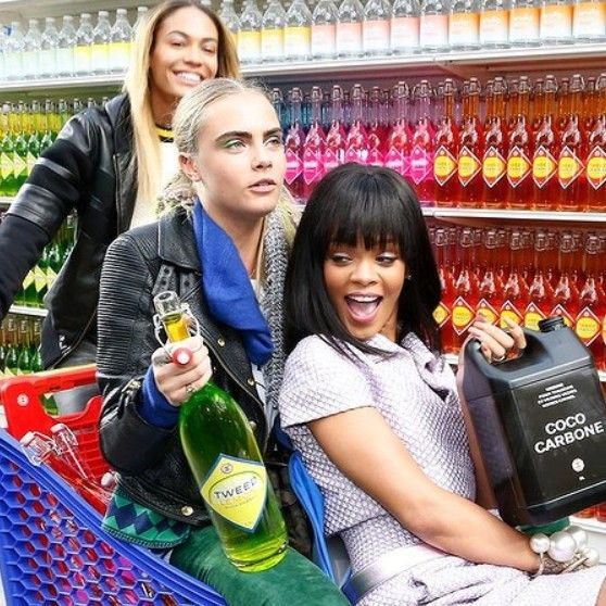 Rihanna at the Chanel 2014 Season collection Supermarket Runway in Paris
