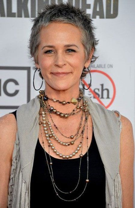 Photos Of Short Haircuts for Older Women now if I had hair like carol from the walking dead I would go grey!!!
