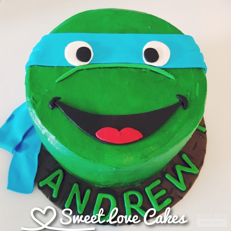TMNT smash cake #smashcake #birthday