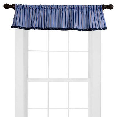 Bedtime Originals Red, White, Navy and Blue Sail Away Window Valance