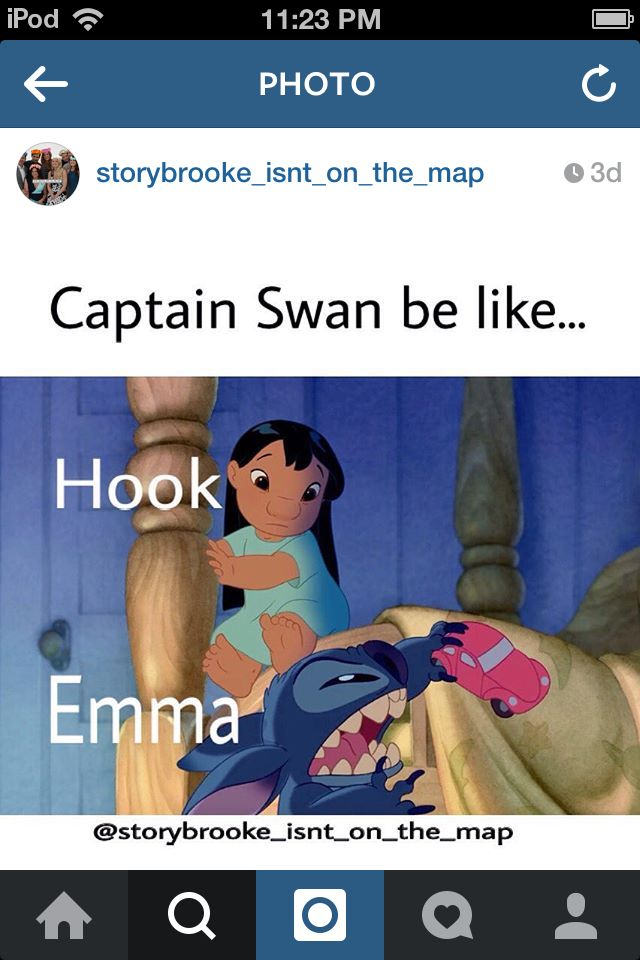 Once Upon A Time/OUAT/OUAT funny/Captain Swan/Killian Jones/Captain Hook/Emma Swan/The Dark Swan/LILO and Stitch