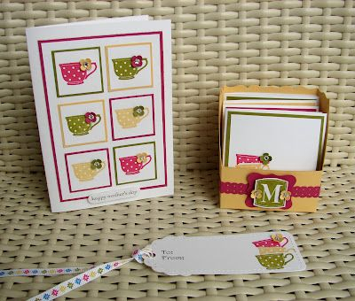 :Teacups Stamps, Cards Sets, Mothers Day, Tiny Teacups, Stamps Sets, Cups Cards, Cards Boxes, Note Cards, Paper Crafts