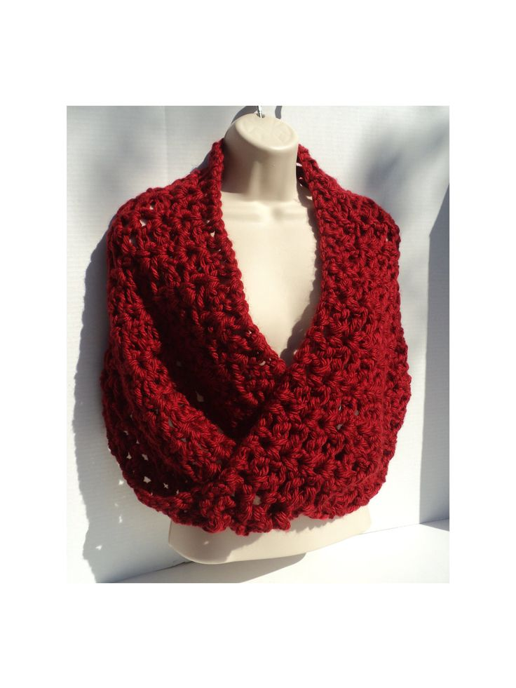 Easy Cowl Neck Scarf Pattern | Infinity Scarf, Neck Scarf and Shawl - Simple Elegance CROCHET PATTERN ...