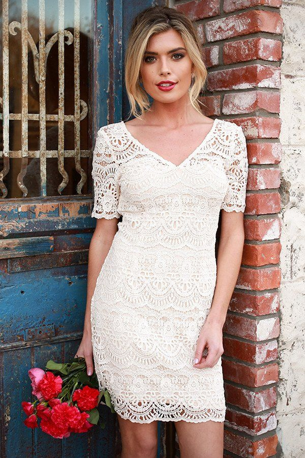 Love Story Crochet Dress In Cream