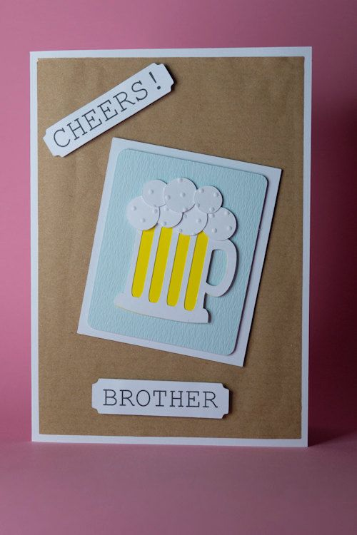 106 best handmade birthday cards images on pinterest envelopes handmade beer mug birthday card beer lover birthday card birthday card for him male birthday card funny beer card beer card men bookmarktalkfo Gallery