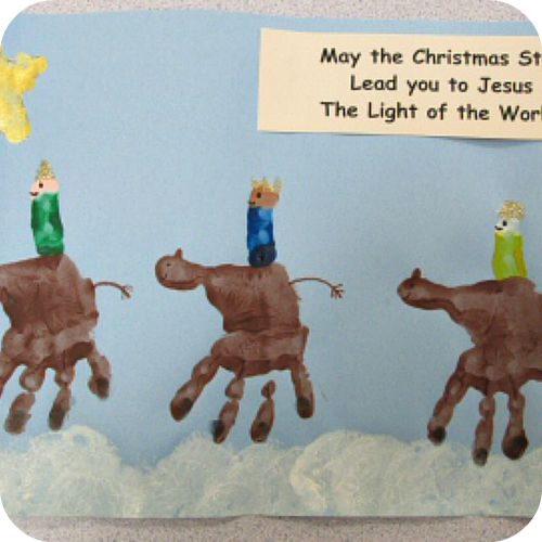 Great Wise Men Handprint Craft From K Karens Preschool Ideas Christmas Crafts For Children