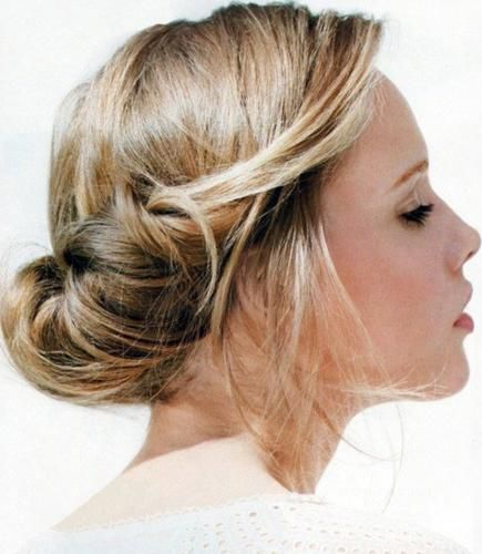 Coiffure Cheveux Mi Long Attache Femme Coiffure Hair Styles