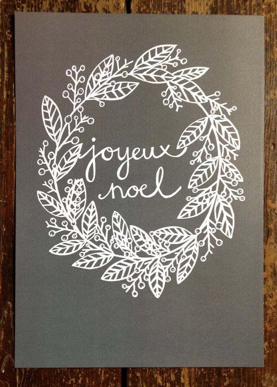 Joyeux Noel - print of an original drawing.