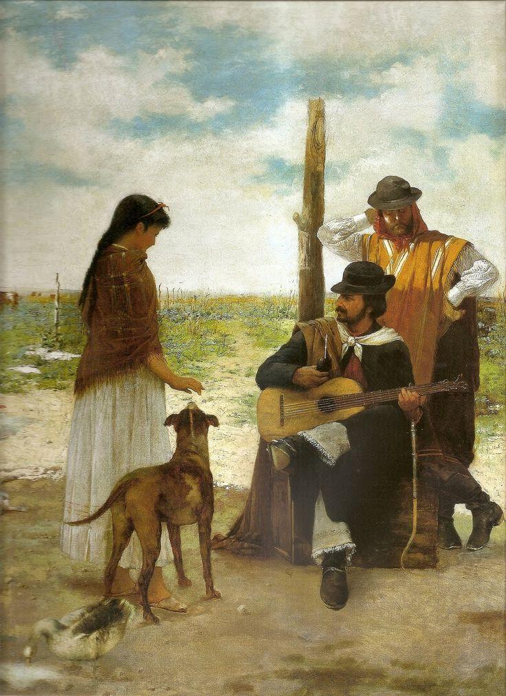 Esta obra es de Angel della Valle, realizada en 1899. Se trata de un óleo sobre tela de 144 cms. de alto por 95 cms. de ancho.