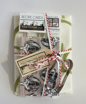 Kaye Rachelle Designs Kitchen Gift Set $24   Tea Towel, Recipe Cards U0026 A  Cookie
